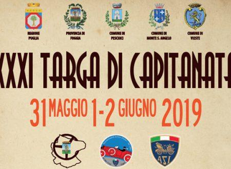 XXXI Targa di Capitanata ritornerà dal 31 maggio al 2 giugno. Il programma completo!