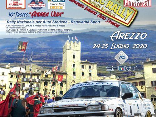 Historic Rally delle Vallate Aretine: una gara, tanti trofei. Superata quota 100 iscritti