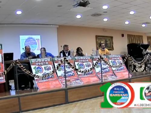 CONFERENZA STAMPA DI PRESENTAZIONE 10° RALLY PORTA DEL GARGANO – LIVE STREAMING